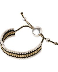Links of London | Metallic Friendship Bracelet Gold And Black - For Women | Lyst