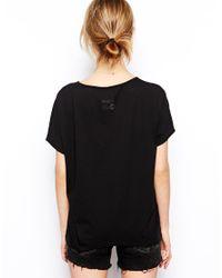 RVCA - Black Firefly Tshirt - Lyst
