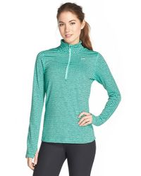 Nike | Green 'element Stripe' Half Zip Running Top | Lyst