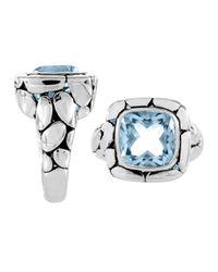 John Hardy - Kali Square Blue Topaz Ring - Lyst