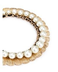 Anabela Chan | Metallic 'delphin' 14k Gold Resin Pearl Collar Necklace | Lyst