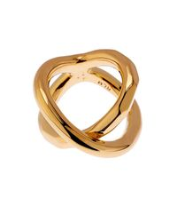 Robert Lee Morris Metallic Twist Gold-Plated Ring