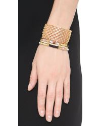 Noir Jewelry | Metallic Replay Cuff Bracelet - Gold/clear | Lyst
