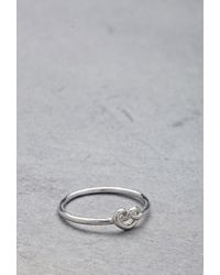 Forever 21 | Metallic Flash Trash Girl Infinity Knot Midi Ring | Lyst