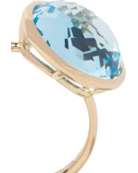 Ippolita - Blue Lollipop® 18-karat Gold Topaz Ring - Lyst