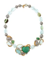 Alexis Bittar | Maldivian Necklace with Green Stones | Lyst