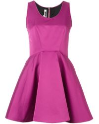 McQ - Pink Flared Dress - Lyst