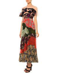 Valentino - Multicolor Multi-print Pleated Patchwork Dress - Lyst