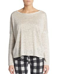 Rag & Bone - Natural Linen Drop-shoulder Top - Lyst