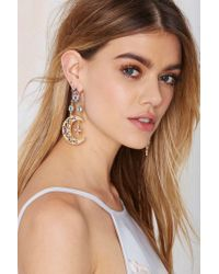 Nasty Gal - Metallic Heavenly Body Asymmetrical Earrings - Lyst