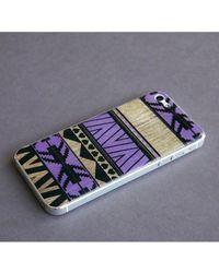 Blissfulcase - Multicolor Aztec 3d Gel Skin Purple For Iphone 5 - Lyst