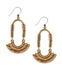 Lucky Brand | Metallic Goldtone Modern Ring Drop Earrings | Lyst