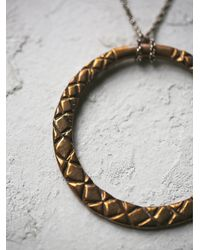 Free People - Metallic Etched Eternity Snake Pen - Lyst