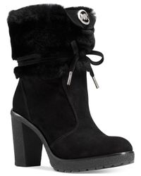 Michael Kors | Black Michael Hawthorne Ankle Booties | Lyst