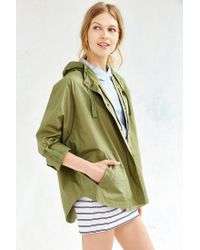 BDG - Green Snap-front Poncho Jacket - Lyst