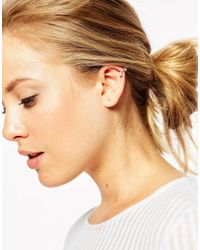 ASOS | Natural Limited Edition Triple Pearl Anywhere Ear Cuff | Lyst