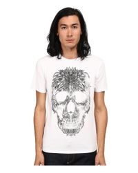 Just Cavalli | White Short Sleeve Feather Skull Graphic Super Slim Tee for Men | Lyst