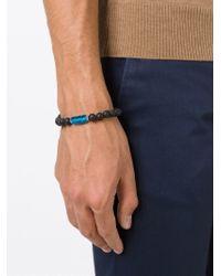 Tateossian - Blue Lava Beaded Bracelet for Men - Lyst