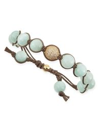 Tai | Multicolor Mintcolored Agate Beaded Bracelet with Pave Golden Bead | Lyst