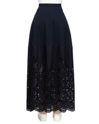 Stella McCartney - Black Crisscross-back Top With Broderie Anglaise Trim - Lyst