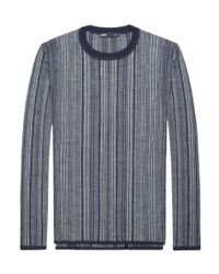 Onassis Clothing | Blue Vertical Stripe Crew Neck for Men | Lyst