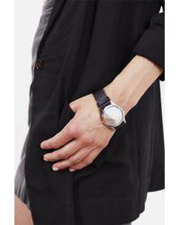 """Persephoni   Leather Bracelet With Aluminium Cone €"""" Black Leather/aluminium   Lyst"""