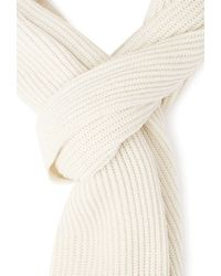 Forever 21 | Natural Ribbed Knit Scarf | Lyst