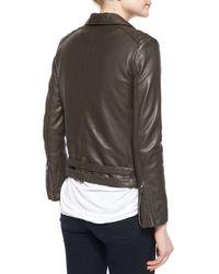 IRO - Gray Jone Lambskin Leather Jacket - Lyst