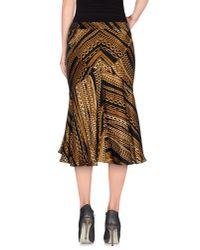 Roberto Cavalli - Black 3/4 Length Skirt - Lyst