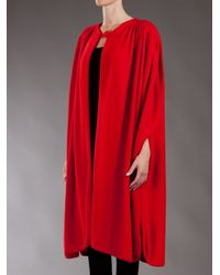 Guy Laroche | Red Vintage Cape Style Coat | Lyst