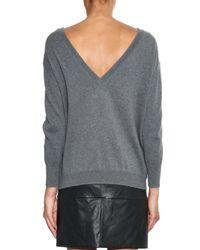 Étoile Isabel Marant - Gray Kinsey Deep V-back Sweater - Lyst