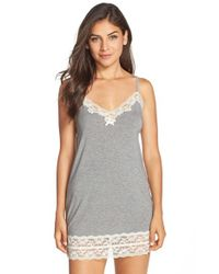 Flora Nikrooz | Gray Snuggle Stretch Modal Chemise | Lyst