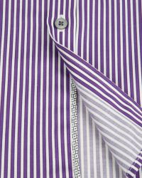 Ted Baker | Purple Pinstripe Shirt for Men | Lyst