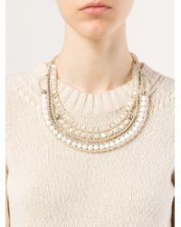 Ziio - Metallic Beaded Necklace - Lyst