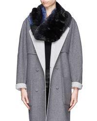 Franco Ferrari - Blue Real Fur Cashmere-silk Scarf - Lyst