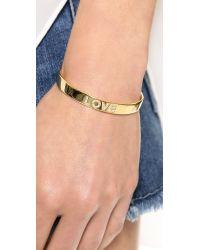 Tai - Metallic Love Cuff Bracelet - Gold - Lyst