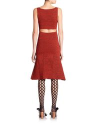Proenza Schouler - Red Back-cutout Printed Dress - Lyst