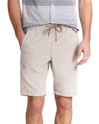 Vince - Natural Chambray Drawstring Shorts for Men - Lyst