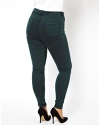 ASOS | Exclusive Ridley Jean in Acid Wash Forest Green | Lyst