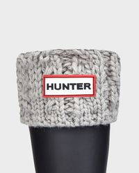 HUNTER - Gray Kids' Cable Knit Boot Socks - Lyst