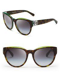 Michael Kors - Gray Bermuda Round Sunglasses, 54mm - Lyst