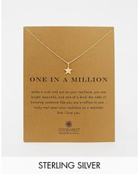 Dogeared | Metallic Gold Plated One In A Million Nautical Star Necklace | Lyst