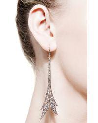 Sylva & Cie - Metallic Eiffel Earrings - Lyst