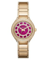 MICHAEL Michael Kors | Metallic Michael Kors 'mini Kerry' Bracelet Watch | Lyst