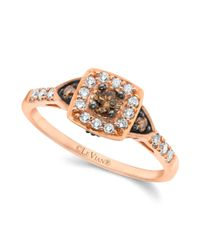 Le Vian - Pink Chocolate And White Diamond Ring (3/8 Ct. T.w.) In 14k Rose Gold - Lyst