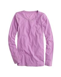 J.Crew - Purple Tissue Long-Sleeve Tee - Lyst
