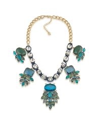 Carolee | Blue Gold-tone Multi-stone Statement Necklace | Lyst