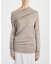 JOSEPH - Natural Fine Wool Interlock High Neck Sweater - Lyst