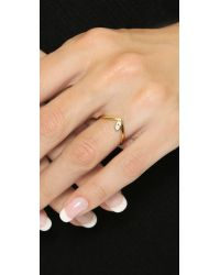 Vita Fede - Metallic V Marquis Ring - Gold/clear - Lyst