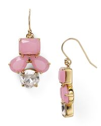 kate spade new york | Pink Secret Garden Drop Earrings | Lyst